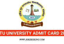 GGTU RECRUITMENT admit card