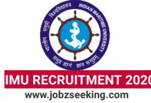 IMU Recruitment 2020