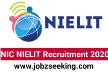 NIC NIELIT Recruitment 2020