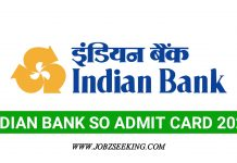 indian bank so hall ticket