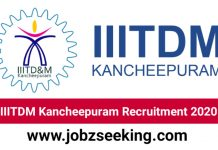 IIITDM KANCHEEPURAM RECRUITMENT 2020