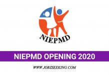 NIEPMD Recruitment 2020