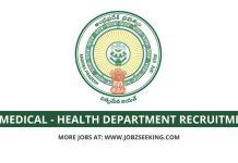 AP Medical & health department recruitment 2020