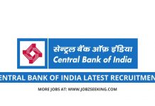 central bank of india latest recruitment