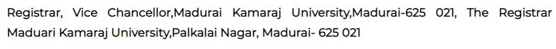 Madurai Kamaraj University recruitment 2020   Various Registrar-director posts