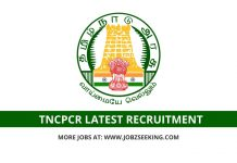 TNCPCR recruitment 2020