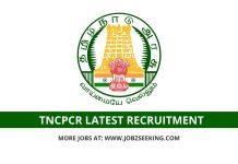 TNCPCR recruitment 2020
