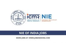 NIE Of India jobs