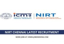 NIRT Chennai recruitment